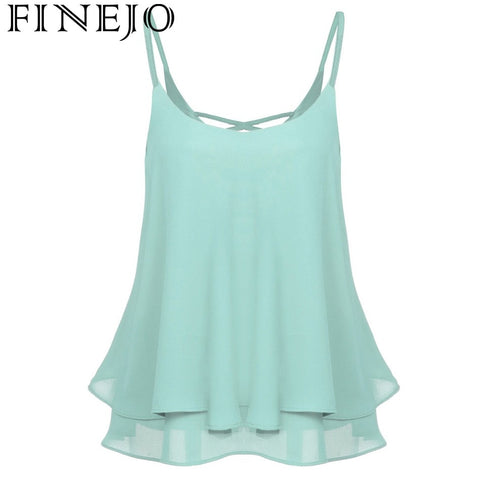 Sleeveless Chiffon Loose Camisole Tops