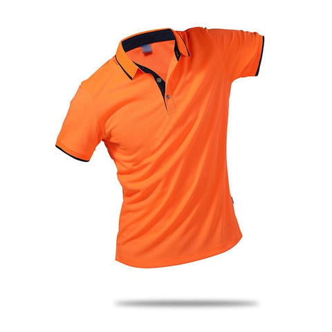 Turn-Down Collar Polo Shirt