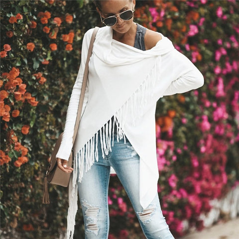 Slash Neck Knitted Loose Pullover