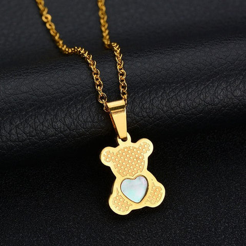 Lovely Heart Shell Bear Necklace - Star Wars Time