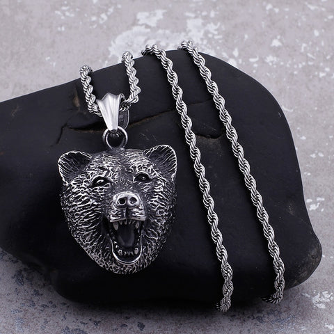 Silver Black Bear Necklace - Star Wars Time