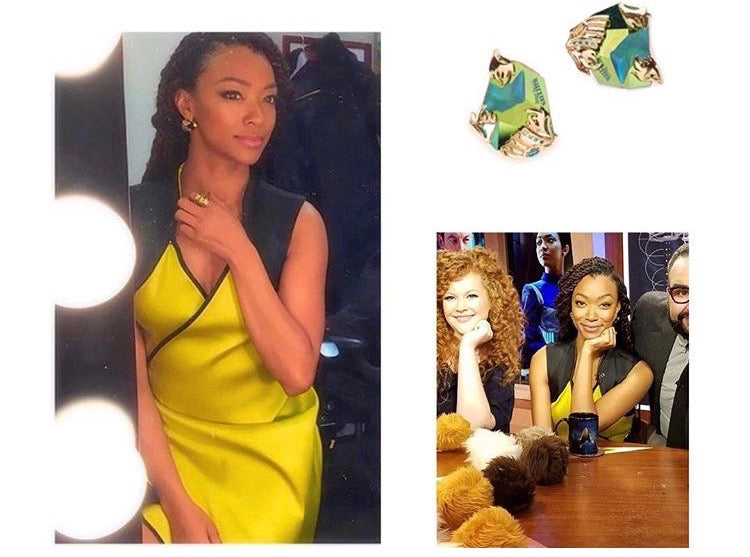 Sonequa Martin-Green in Glasswing earrings