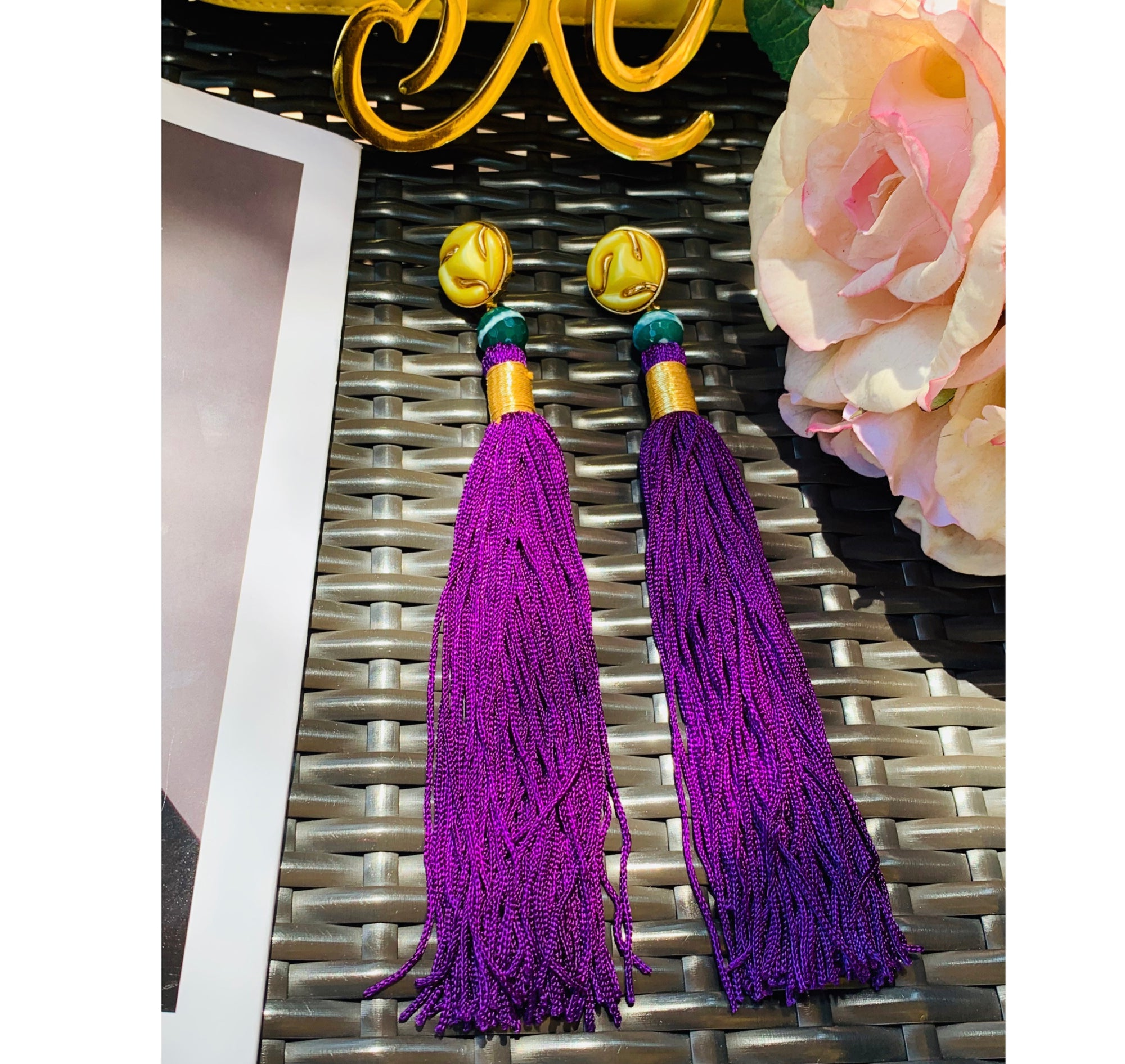 Silk Tassel Shoulder Duster Earring Collection