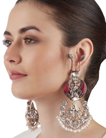 Rouge Renaissance Earrings by Outhouse Jewellery