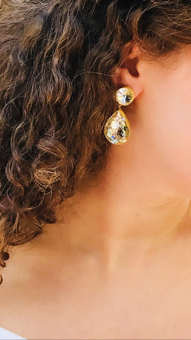 Crystal Drop Earrings by Astha Jagwani