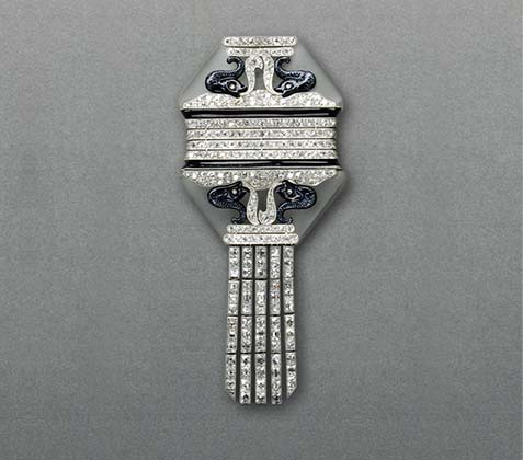 Art Deco brooch by Chaumet