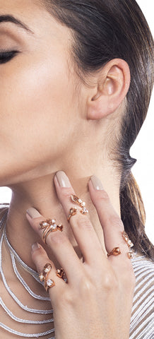 Eternite Rose Midi Rings by Outhouse Jewellery