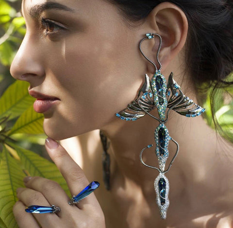 Thorax Trio Earrings by Outhouse Jewellery