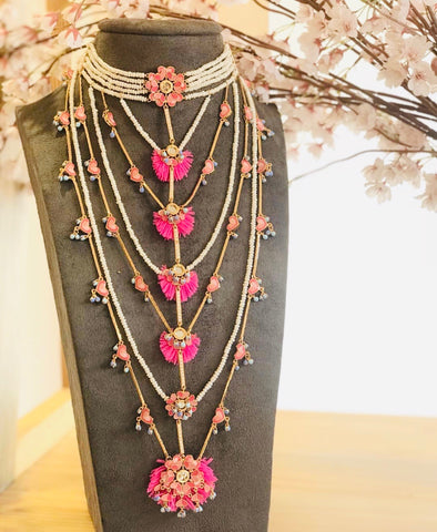 Faith & Flower String Necklace by Outhouse Jewellery