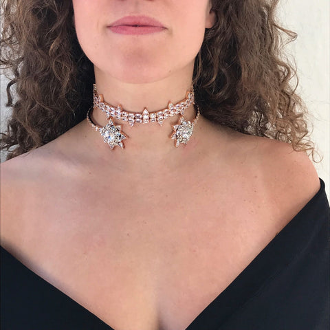 Lily White Choker and Wedlock Choker by Outhouse Jewellery