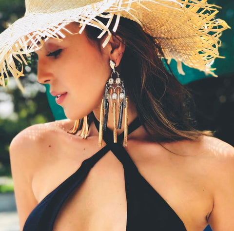 Enchanted Tassel Earrings by Outhouse Jewellery