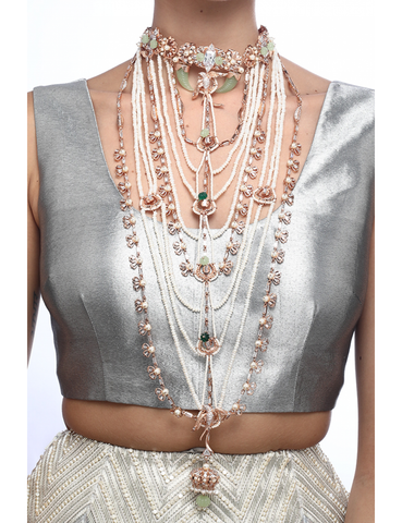 Multilayer Majesty Necklace by Outhouse Jewellery
