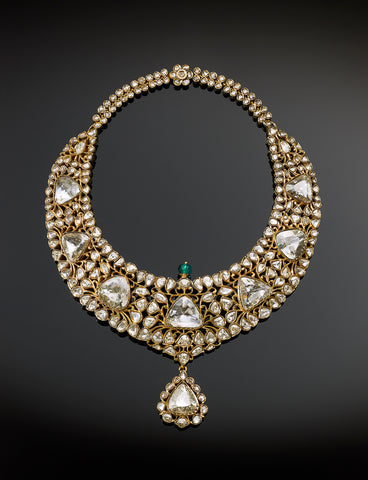 Indian royalty's diamond necklace at display