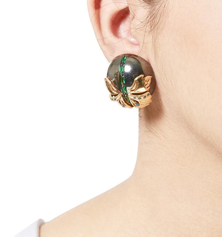 Papilio Studs in Gunmetal by Outhouse Jewellery
