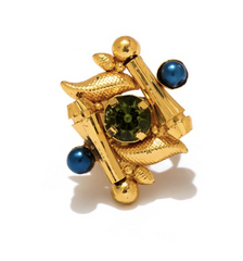 Royal Emerald Stone Ring by Valliyan