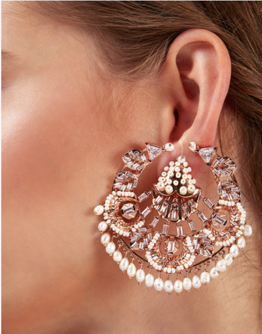 Claire de Lune Pearl Studs by Outhouse Jewellery