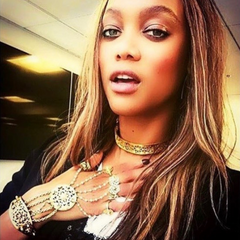 Tyra Banks wearing Jewellery by Astha Jagwani