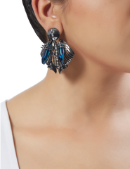 Chrysalis Gunmetal Studs by Outhouse Jewellery