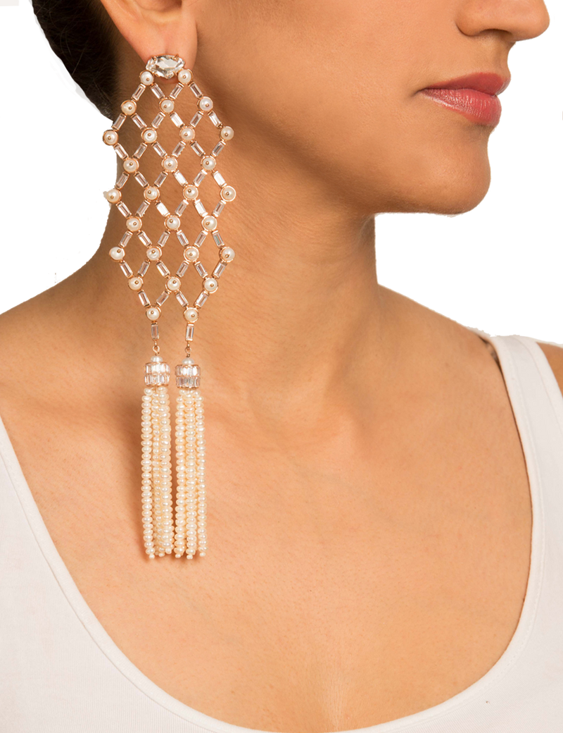 Weave of love earrings