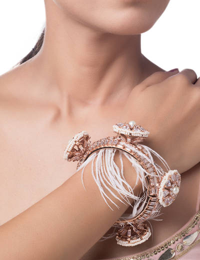 Borla legacy couture bangle with feathers