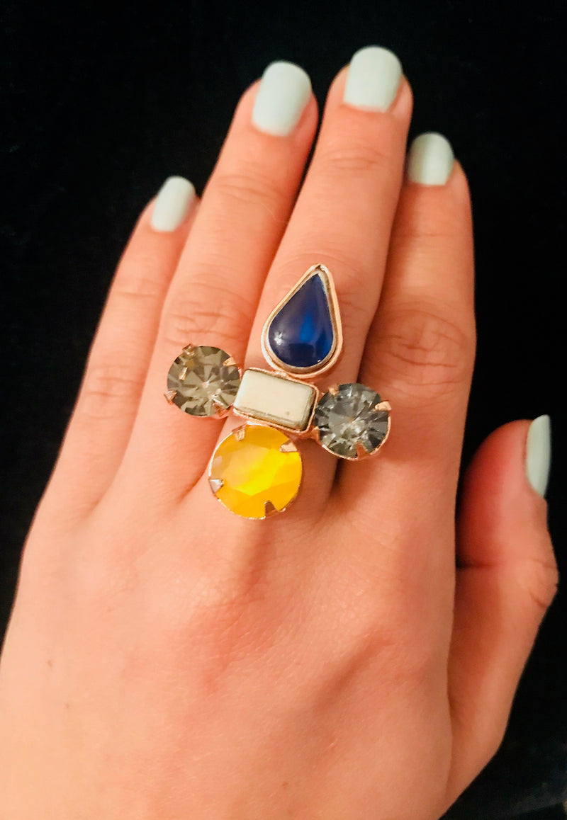 Tear Drop Sunshine Ring