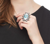 Evil eye ring - Black