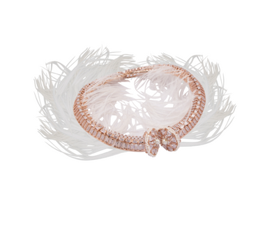 Borla legacy couture choker with feathers