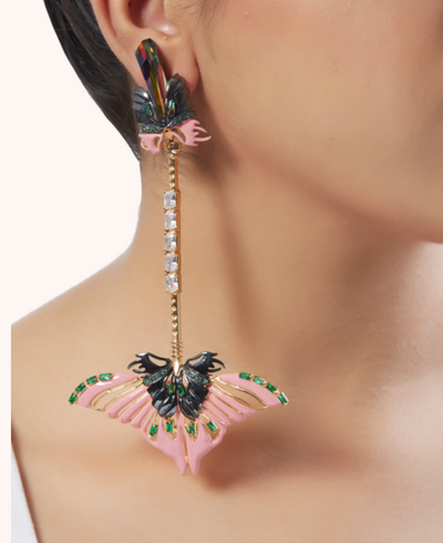 Papilio Blush Ear Pendants