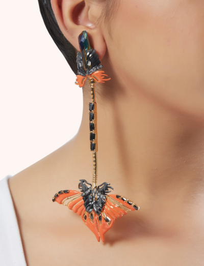 Papilio Coral Ear Pendants
