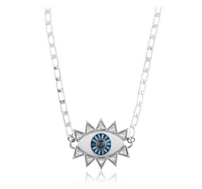 Evil Eye Necklace - Silver