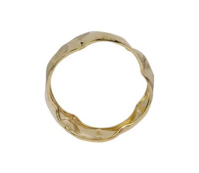 Beaten metal bangle