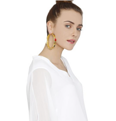 Jeweled Hoops (Gold)