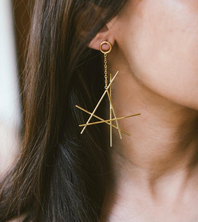Chopstick Earrings
