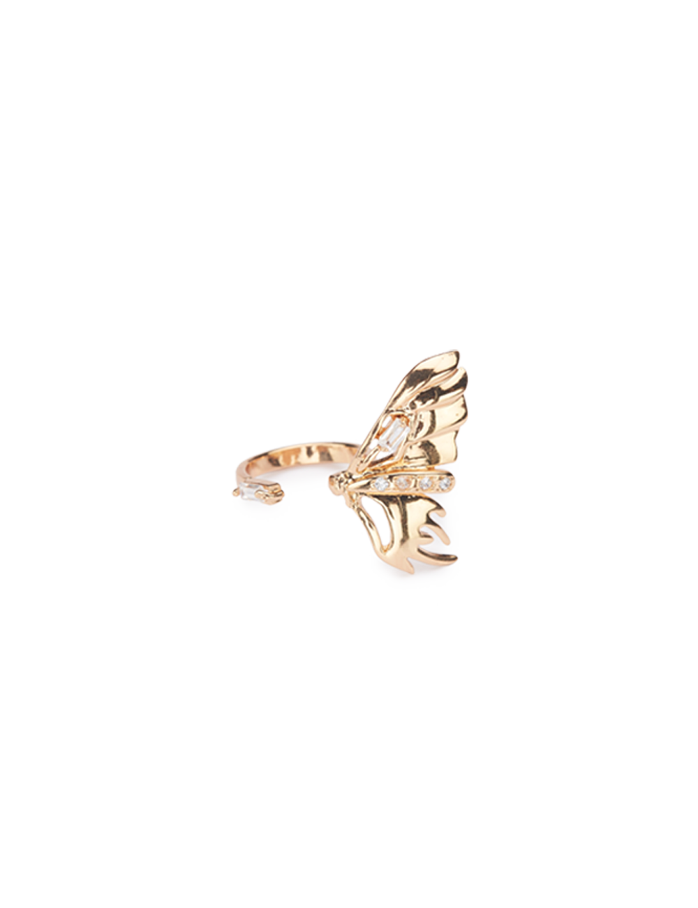 Gold Flutter Midi Ring Big