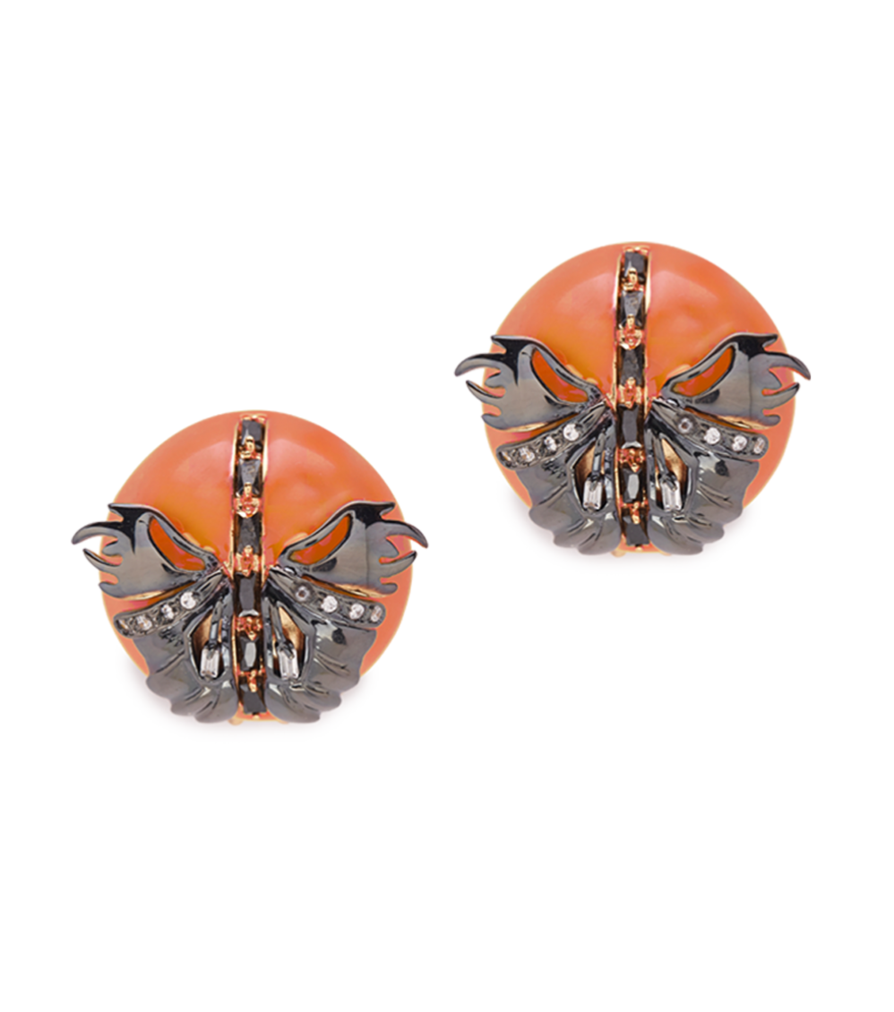 Papilio Studs -Coral