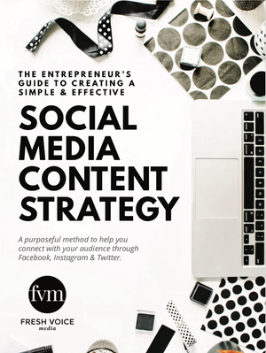 Cover of The Entrepreneur's Guide to Creating a Simple & Effective Social Media Content Strategy