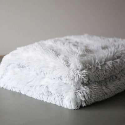 Faux Fur Throw Blanket - Blush Grove
