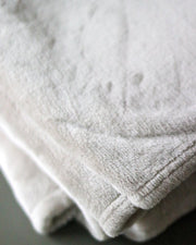 Fleece Throw Blanket | Beige - Blush Grove