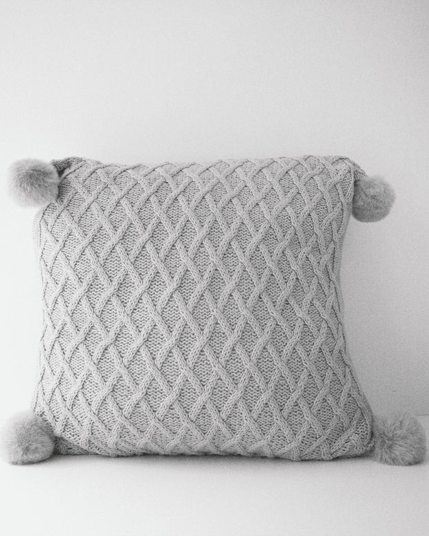 Knit Grey | Cushion Cover & Insert - Blush Grove