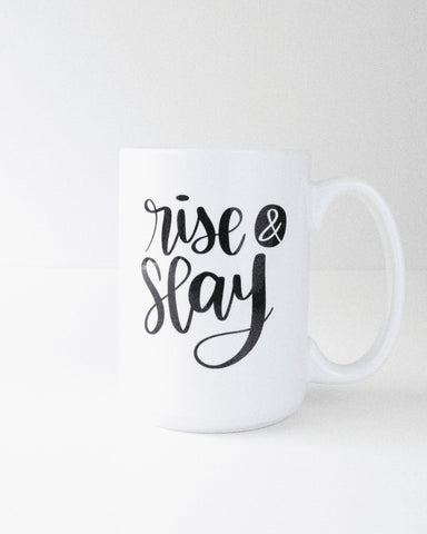 Rise & Slay | 15oz Mug - Blush Grove
