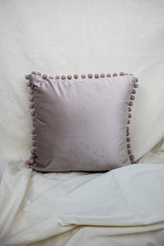 Velvet Pom-Pom | Cushion Cover - Blush Grove