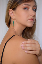Penelope Malachite and Pearl Ithaca Earrings