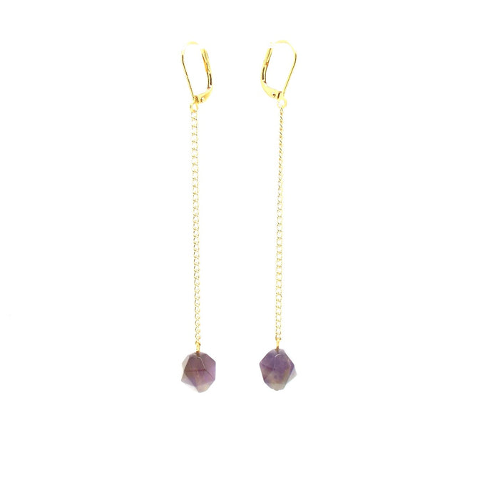 NOLA Swing Amethyst Earrings