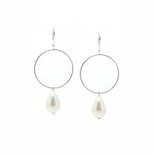 SALOME x Stephanie Waxberg Signature pearl earrings - SILVER