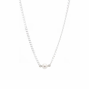 SALOME x Stephanie Waxberg Pearl Necklace - Silver