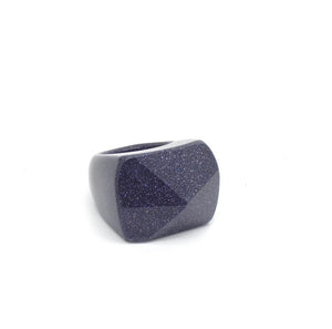 SALOME x Stephanie Waxberg Blue Goldstone ring