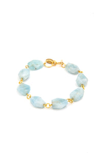Rocks Aquamarine Bracelet