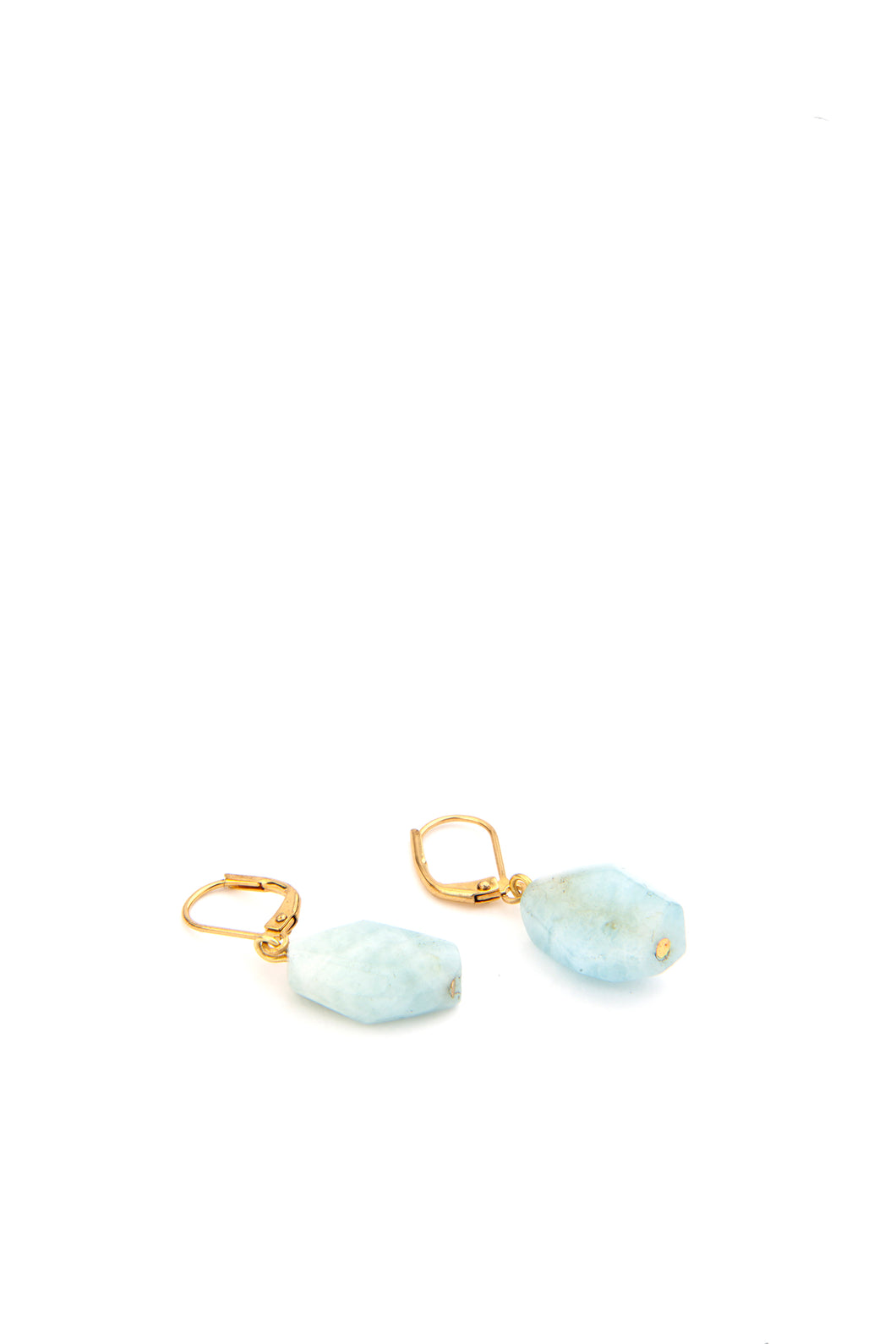 Rocks Aquamarine Geo Earrings