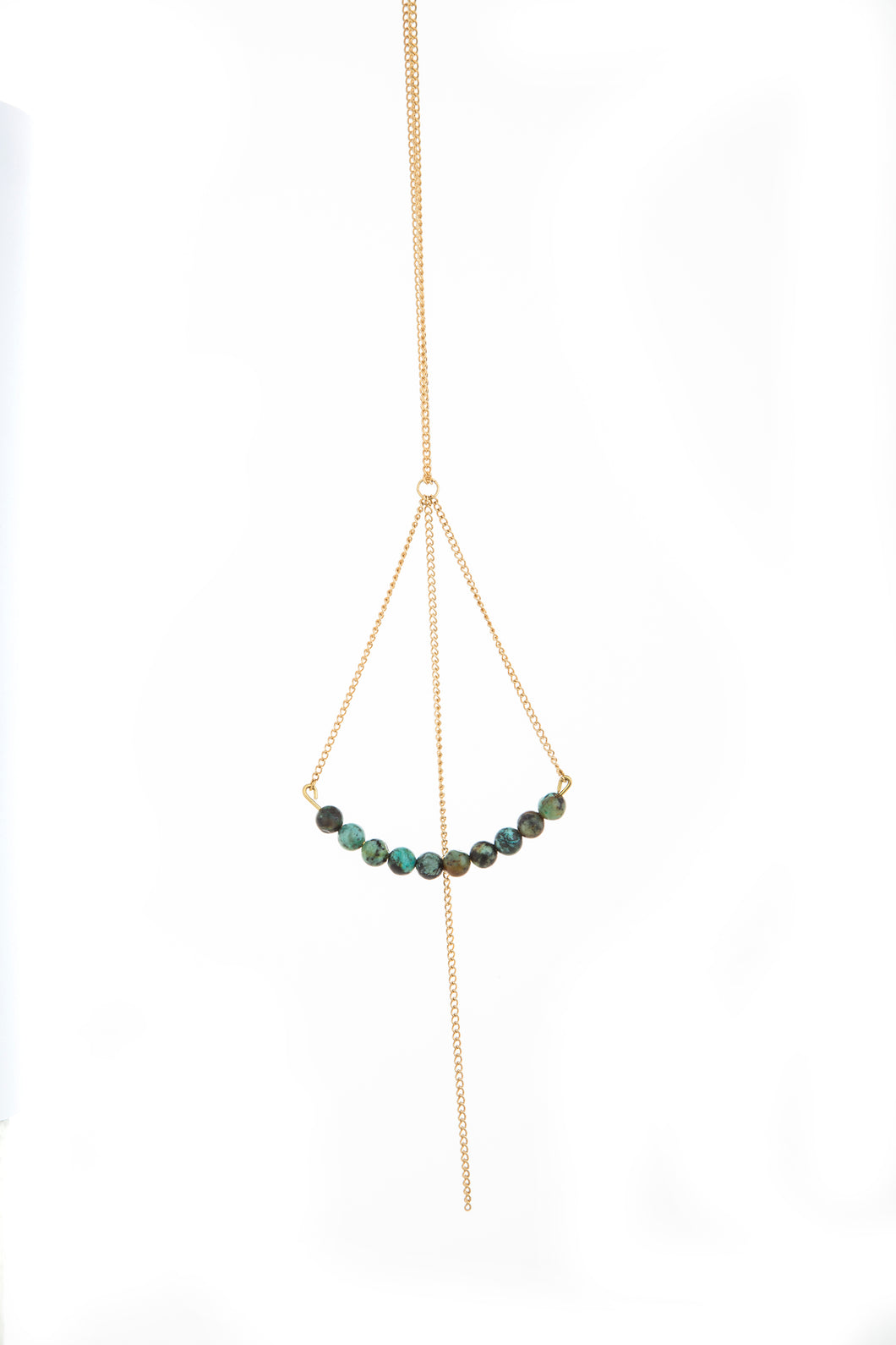 African Turquoise Rebel Necklace with Fringe