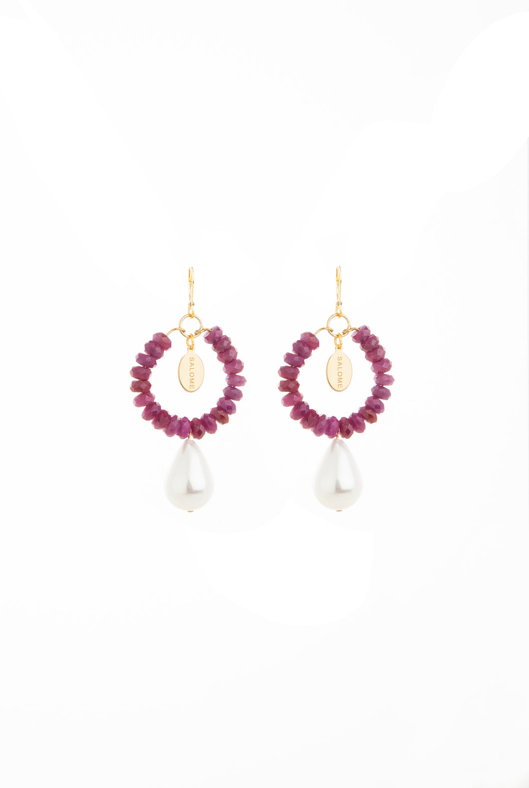 Bohemian Renaissance Ruby Earrings
